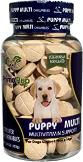 Primo Pup Puppy Multivitamin Vet Health | Supports Physical & Mental Wellbeing | Veterinarian Formulated | Easy to Digest ...