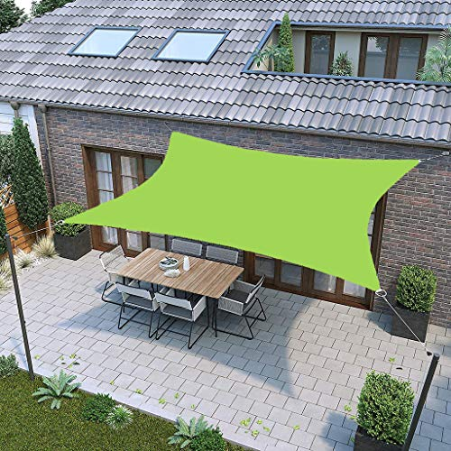 YTQ Shade Sail 95% UV Breathable For Outdoor Garden Patio Shade Cloth Breathable Sunproof Waterproof Awning Canopy Rectangle Green With Rope 9.24(Size:3 * 4m)