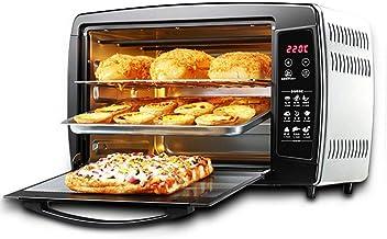 Y-oven NAUY@ Hogar Mini 30L Horno con Ajuste de Temperatura 0-250°C y 0-90min Temporización 1500W Horno Multifuncional de Tres Capas para Puertas de Vidrio Pequeños Accesorios