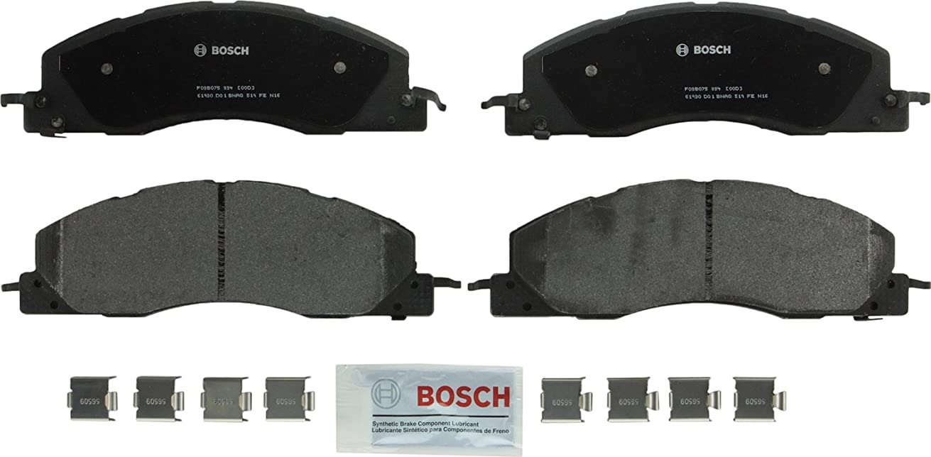 Bosch BP1399 QuietCast Premium Semi-Metallic Disc Brake Pad Set For Dodge: 2009-2010 Ram 2500, 2009-2010 Ram 3500; Ram: 2011-2017 2500, 2011-2017 3500; Front