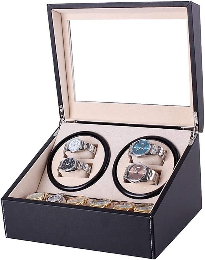 ZCXBHD Courier shipping free shipping Automatic Watch Winder Wooden and Cheap super special price Box Rotation with PU 3