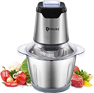 1.2L Electric Mini Food Chopper Food Processor Meat Grinder,4 Bi-Level Blades,500 W Stainless Steel Kitchen Mincerfor Meat,Vegetables,Fruits,Onion and Nuts,Baby Food