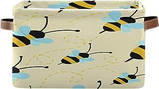 Tropicallife F17 Panier de rangement pliable en toile avec motif abeille et animal - 1 boîte de rangement avec poignée