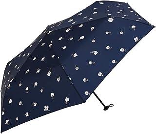 Nifty Colors(ニフティカラーズ) 折りたたみ傘 フラワーポイントカーボン軽量ミニ55 ネイビー