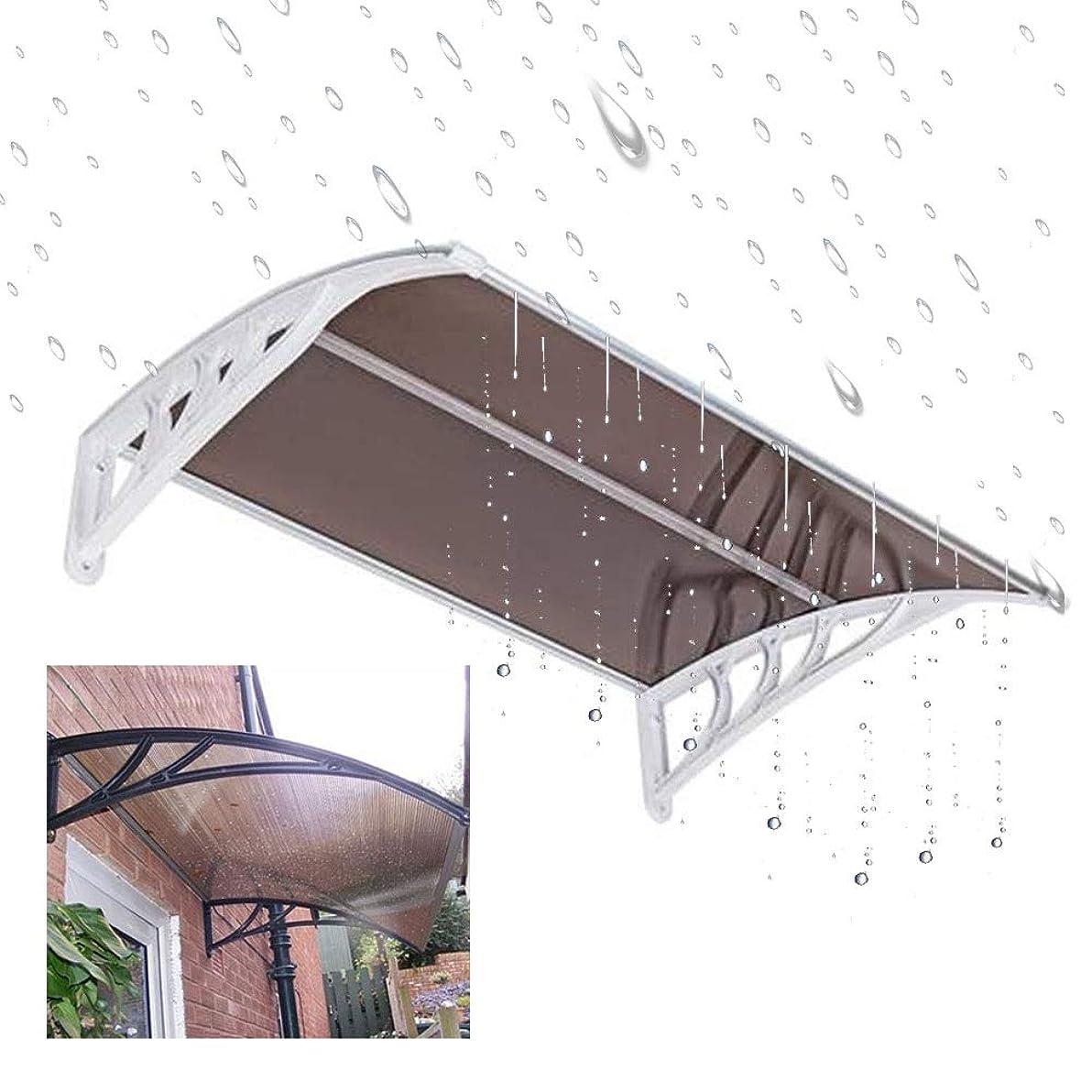 シャツ命令テントオーニングドアキャノピー ポリカーボネートカバードアや窓の日よけ、中空ボードアンチUV雨保護ポーチ雨キャノピーハウスのリノベーション FYRANG (Color : Brown, Size : 39.37 x 31.5 x 9.06')