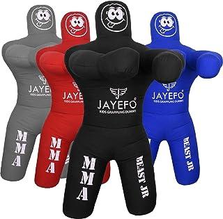 Jayefo Kids JIU Jitsu Grappling Dummy Youth Wrestling Practice Dummy for MMA BJJ Karate Boxing Punching Bag Throwing Kick ...