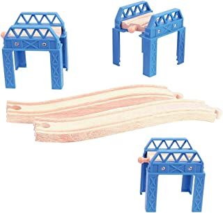 Bigjigs Rail Construction Support Set - Other Major Wooden Rail Brands are Compatible