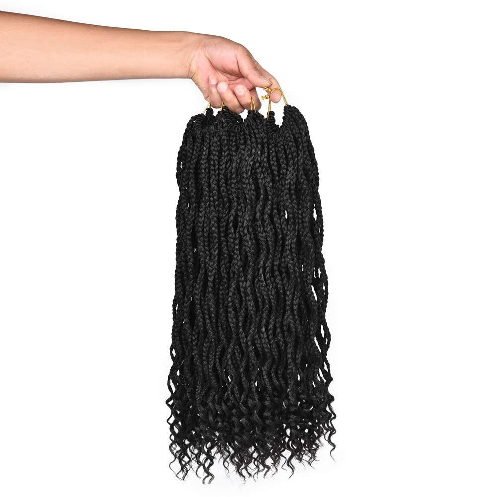 Refined 6Packs 18Inch 販売実績No.1 Curly Box Extensions Hair Braids M 格安 Crochet