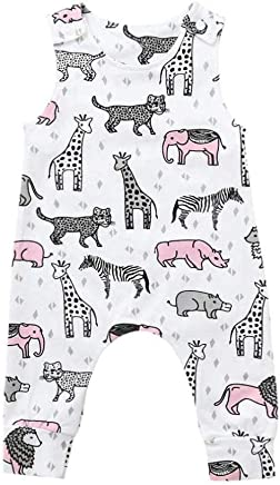 533ba2291c Baby Sleeveless Cute Newborn Infant Baby Boys Girls Cartoon Animals Romper  Jumpsuit(18-24M