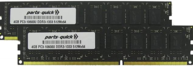8GB (2 X 4GB) Memory Upgrade for Biostar A780L3C Ver. 7.0 Motherboard DDR3 PC3-10600 1333MHz DIMM RAM (PARTS-QUICK BRAND)