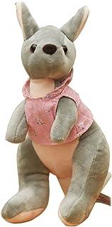 CN'Dragon Cute Wearing Clothes Kangaroo Plush Toy 11.81'' Animals Stuffed Toy (Pink)