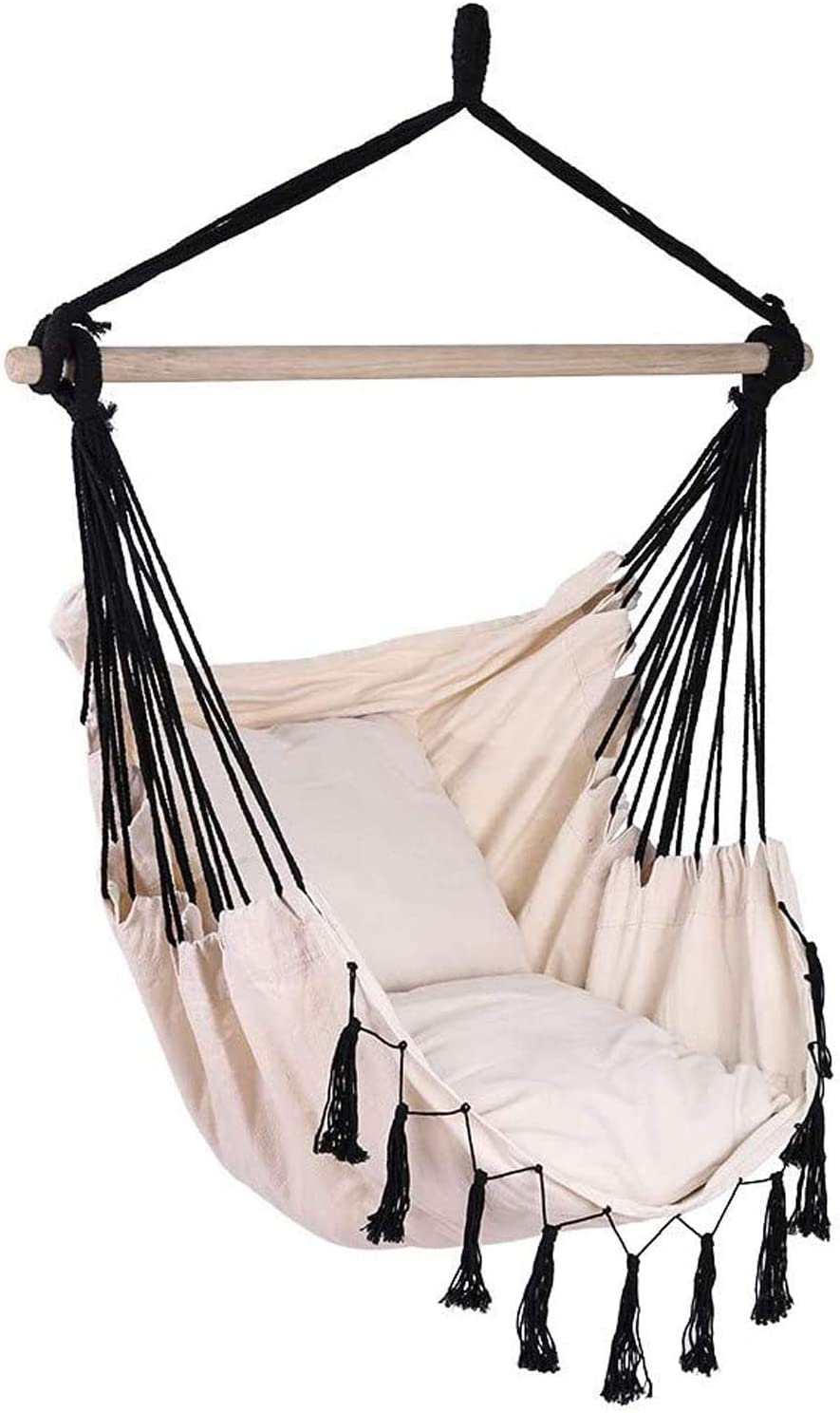 Ranking TOP5 Hanging Super sale period limited Rope Hammock Chair Swing Seat- Soft-Spun 264 Max - Lbs C