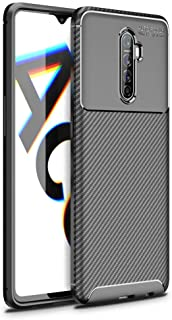 Mobile Phone Protective Case Compatible for OPPO Reno Ace Beetle Series Carbon Fiber Texture Shockproof TPU Case TPU Soft ...