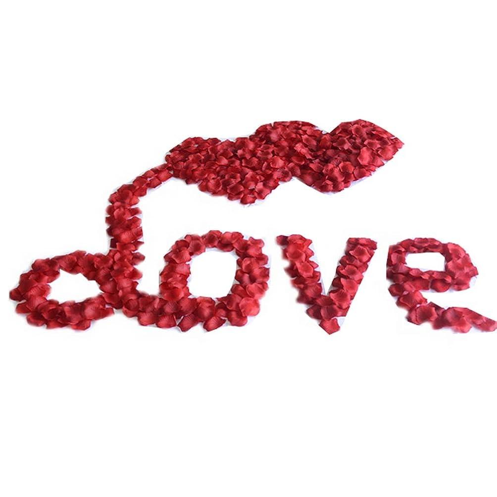 出血洗う良心結婚式の装飾のための人工のバラの花びらのセット