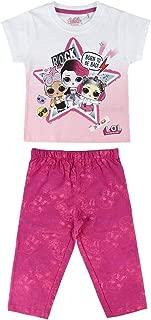 Bambina Full Print Surprise! novit/à Prodotto Originale con Licenza Ufficiale E6161 L.O.L Coordinato Set 2pz T-Shirt Maglia a Maniche Corte e Pantaloncino