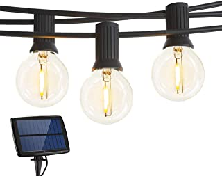Solar String Lights,18Ft G40 Globe Bulbs(and Extra 1 Spare Bulb) Waterproof,10LED Globe String Lights,Indoor/Outdoor Garde...