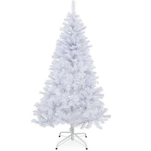 Sapin de Noël blanc 180 cm Arbre artificiel 533 branches avec support Fêtes