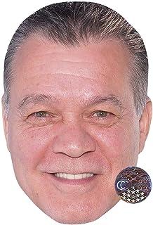 Eddie Van Halen Celebrity Mask, Flat Card Face, Fancy Dress Mask