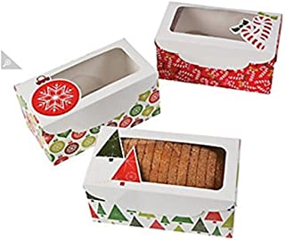 CHRISTMAS LOAF BOXES - Party Supplies - 12 Pieces