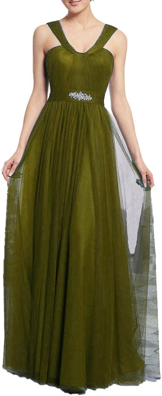 Beilite Women's V Neck Formal Evening Dresses Beaded Tulle Long Mother of The Bride Dress