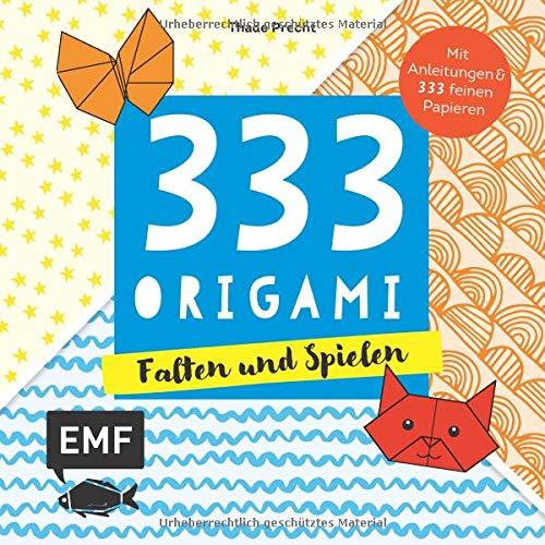 333 Origami – Falten und Spielen: Mit Anleitungen und 333 bunten Origamipapieren