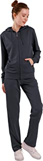 Yasumond Womens Track Suits Sets 2 Piece Jogger Sweatsuits Zip Up Hoodies & Sweatpants