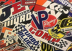 Crash Daddy Racing Decal Sticker 45 Piece Assortment