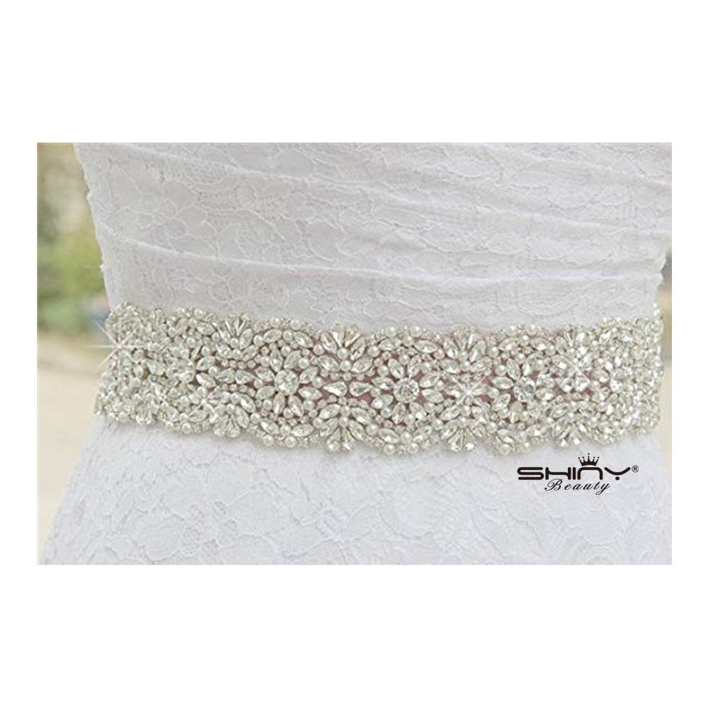 Wedding Belt Rhinestones Pearl Embellishments Sash Sparkly Wedding Sash Pearl Trim