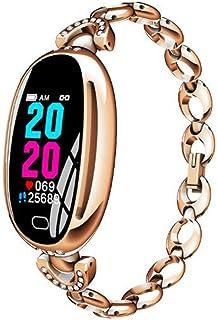 XNNDD Reloj Inteligente Monitor de presión Arterial con frecuencia cardíaca a Prueba de Agua Reloj Deportivo Inteligente Ejercicio Deportivo Paso a Paso