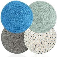 aifuda - 4 supporti per pentole calde in filo di cotone, multiuso, antiscivolo, alla moda, isolanti, per cucinare e cuocere