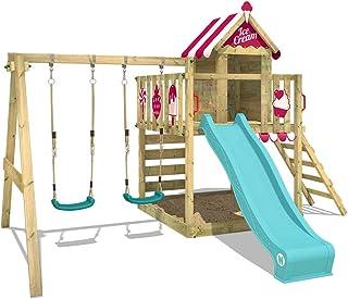 Parque infantil WICKEY Smart Candy Parque de juegos de madera con tobogán y columpio