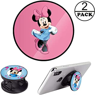 Cell Phone Finger Stand Holder Grip Foldable Expanding Kickstand Mount Compatible All Tablets and Smartphones - Pink Heart...