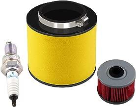 Podoy TRX350FE Air Filter for Honda Rancher TRX350TE 17254-HN5-670 with Oil Filter Spark Plug TRX350FM TRX350FM 2000-2006
