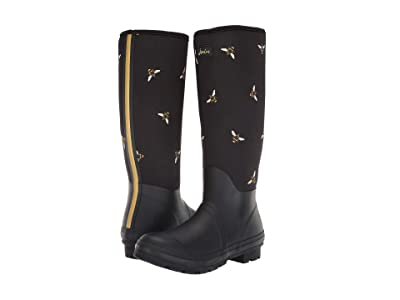 Joules Neoprene Printed Welly (Black Multi Bees) Women