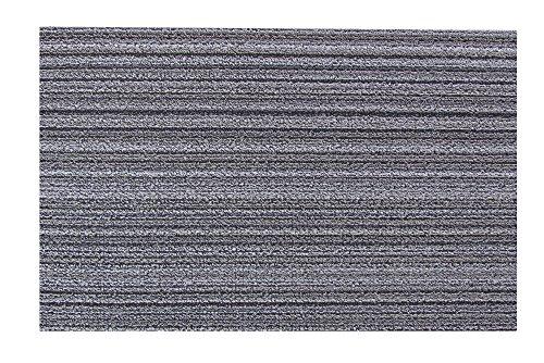 Chilewich Shag Skinny Stripe - Felpudo 46x71cm Abedul/Adecuado para su Uso en Interiores y Exterior