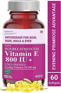 Carbamide Forte Vitamin E 800 IU Oil + Evening Primrose Oil 200mg - 60 Capsules