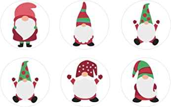 Holly Jolly Gnomes Edible Cupcake Toppers Decoration