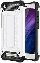 Xiaomi Redmi 4A Case,Hybrid Hard Cover + Soft TPU Raised Edge Shockproof Bumper Case for Xiaomi Redmi 4A - Silver