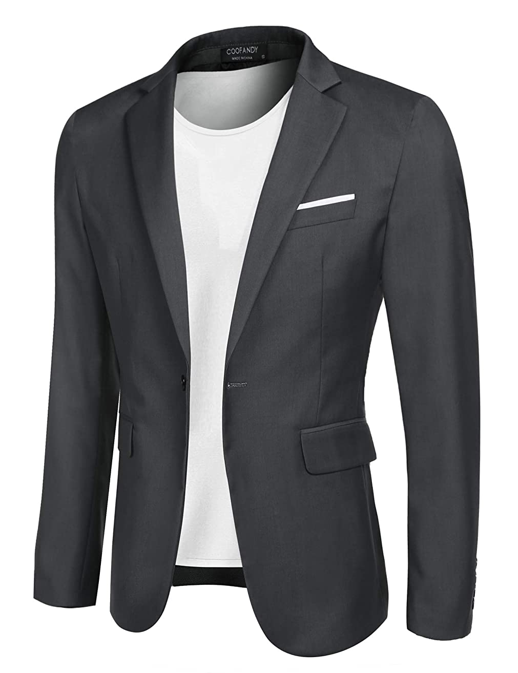 COOFANDY Men's Casual Blazer Jacket Slim Fit Sport Coats Lightweight One Button Suit Jacket