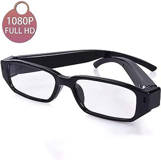[Upgraded] Sukia 1080P Full HD Spy Camera Glasses Wearable Hidden Camera with Video Recording Mini Sport Outdoor Video Glasses with Camera (32G SD Card Included)