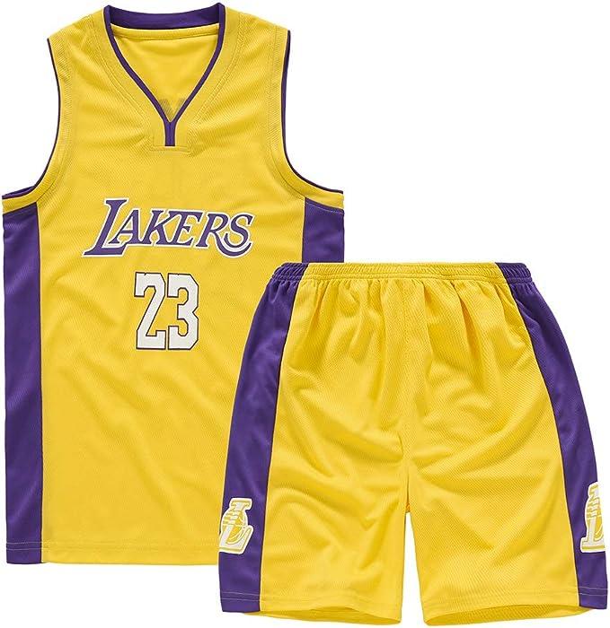 Shorts de Jersey Lebron James # 23 de Los Angeles Lakers - Conjunto clásico sin Mangas, Baloncesto para niños y Camiseta de Traje de Canasta Unisex ...