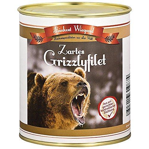 Grizzlyfilet aus der Dose - Wichtelgeschenk - Nikolausgeschenk - Spaßgeschenk - Geburtagsgeschenk - Weihnachtsgeschenk - Scherzartikel