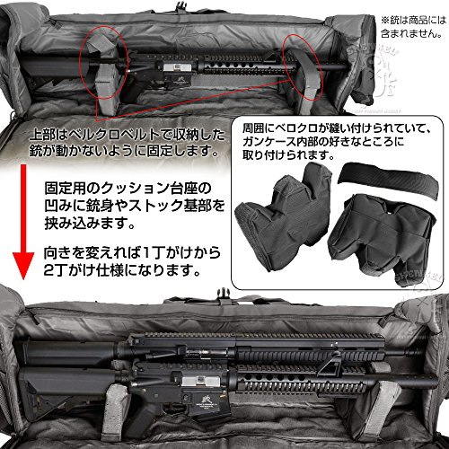 SHENKELM249タイプライフルケースガンケース2丁シングル/ダブル100cmBKライフルバッグ大型M4VSRAKサバゲー装備