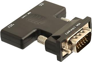 IO Crest SY-ADA31063 HDMI to VGA Adapter with Sound 1080P 1.4b Convert HDMI