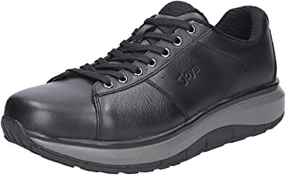 JOYA Mens Malibu M SR Black Leather Trainers