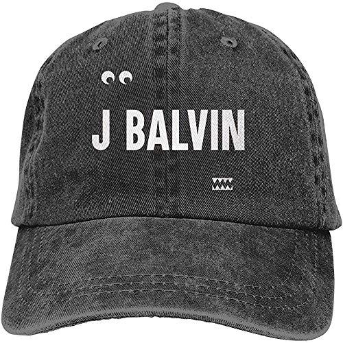 W-Fen Jeans Hat J Balvin Vibras Gorra de béisbol Gorra Deportiva Gorra de Camionero para Adultos Gorra de Malla