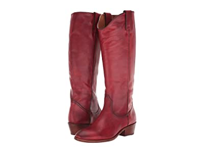 Frye Carson Pull-On (Crimson Leather Extended) Cowboy Boots
