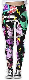 Girl Yoga Pant Alien Grunge Unicorn High Waist Fitness Workout Leggings Pants