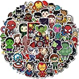 Superheros Avengers Stickers 100 Pcs Comic Stickers Gift for Boys Kids Teen Party Vinyl Waterproof Decals for Water Bottle,Laptop, Phone, Hydro Flasks, Cool Cartoon Stickers Pack