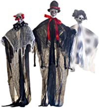 NUOBESTY 3Pcs Halloween Pendurado Fantasma Flutuante Vampiro Fantasma Esqueleto Para A Casa Assombrada Halloween Party Dec...